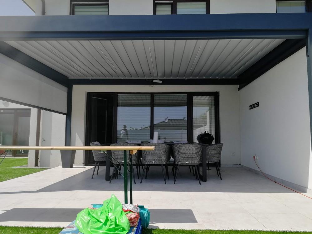 Tienenie strecha  lamely sunbreaker,bočná stena roleta ziip screenová